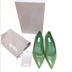 MAXMARA LOLLO GREEN FLAT WORN ONCE